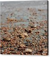 Stones And Waves At Beach  Acrylic Print