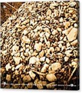 Stones Acrylic Print by BandC  Photography