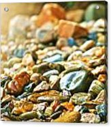 Stones Acrylic Print by Debbie Sikes