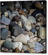 Stones On Beach Acrylic Print