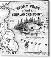 Stony Point Map, 1779 Acrylic Print by Granger