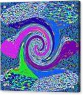 Stool Pie Chart Twirl Tornado Colorful Blue Sparkle Artistic Digital Navinjoshi Artist Created Image Acrylic Print