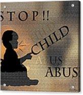 Stop Child Abuse Acrylic Print