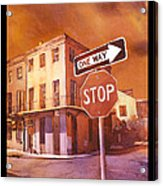Stop- French Quarter Ahead Acrylic Print