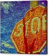 Stop Acrylic Print