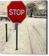 Stop Sign Acrylic Print
