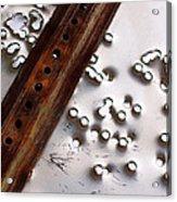 Stop Sign Bullet Holes Acrylic Print