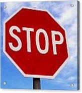 Stop Sign Ireland Acrylic Print