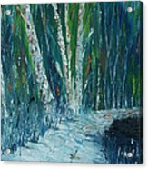 Stopping By Woods On A Snowy Evening Acrylic Print