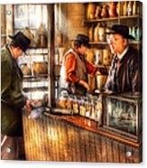 Store - Ah Customers Acrylic Print by Mike Savad
