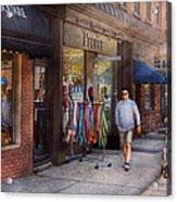Store Front - Hoboken Nj - People Acrylic Print