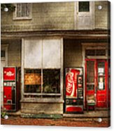 Store Front - Waterford Va - Waterford Market  Acrylic Print by Mike Savad