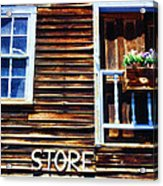 Storefront Rustic Acrylic Print