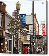 Storefront Shops In Truckee California 5d27489 Acrylic Print by Wingsdomain Art and Photography