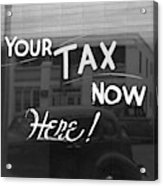 Storefront Sign, 1939 Acrylic Print