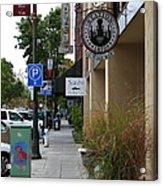 Storefronts In Historic Railroad Square Area Santa Rosa California 5d25806 Acrylic Print