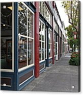 Storefronts In Historic Railroad Square Area Santa Rosa California 5d25856 Acrylic Print by Wingsdomain Art and Photography