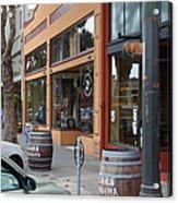Storefronts In Historic Railroad Square Santa Rosa California 5d25804 Acrylic Print by Wingsdomain Art and Photography