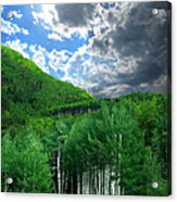Storm Above Pennock Pass Colorado Acrylic Print by Ric Soulen