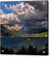 Storm Above St. Mary Lake Acrylic Print