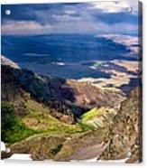 Storm Above The Alvord Desert Acrylic Print