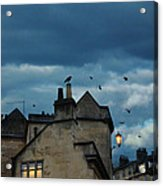 Storm Above Town Acrylic Print