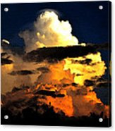 Storm At Dusk Acrylic Print by David Lee Thompson