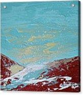 Storm At Red Rock Ridge Acrylic Print