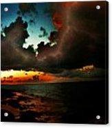 Storm At Sundown  Acrylic Print