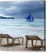 Stormy Beach - Boracay, Philippines Acrylic Print