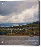 Storm Brewing Over Rip Van Winkle Bridge Acrylic Print