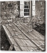 Storm Cellar And Window Acrylic Print by Mark Miller