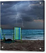 Storm Chairs Acrylic Print by Laura Fasulo