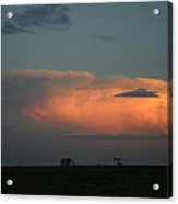 Storm Cloud And Oil Well Acrylic Print