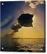 Storm Cloud Over Calm Waters Acrylic Print by John Malone