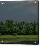 Storm Clouds And Trees Acrylic Print