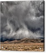 Storm Clouds Acrylic Print by Cat Connor