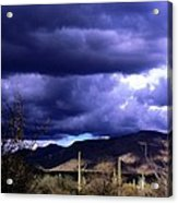 Storm Clouds In The Desert Acrylic Print