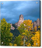 Storm Clouds Over Chimney Rock Acrylic Print