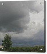 Storm Clouds Over Cornfields Acrylic Print