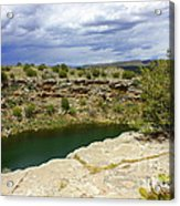 Storm Clouds Over Montezuma Well Acrylic Print