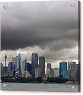 Storm Clouds Over Sydney Acrylic Print