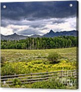 Storm Clouds Over The Rockies Acrylic Print