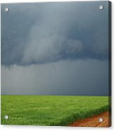 Storm Clouds Over Wheat Field 2am-6982 Acrylic Print