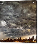 Storm Coulds Over Nyc Acrylic Print