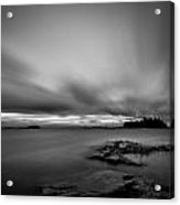 Storm In Black And White Acrylic Print