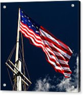 Storm Flag At Fort Mchenry Acrylic Print