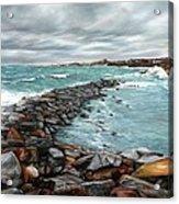 Storm In Rockport Harbor Acrylic Print