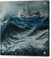 Storm In The Sea Acrylic Print