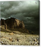 Storm In The Superstitions Acrylic Print